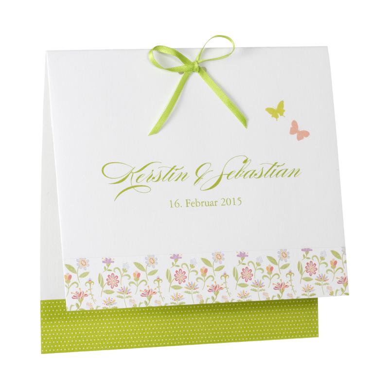 Weisse Hochzeitseinladung Mit Blumenmotiv Drucken In Koln
