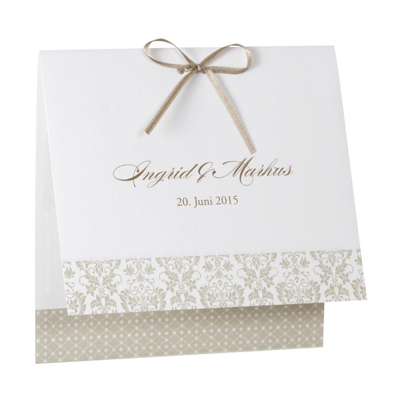 Edle Hochzeitskarte Drucken Mit Ornamenten In Koln