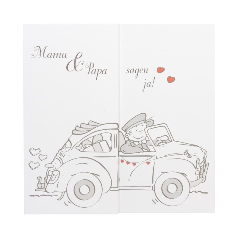 Lustige Comic Einladungskarte Mit Limousine ...