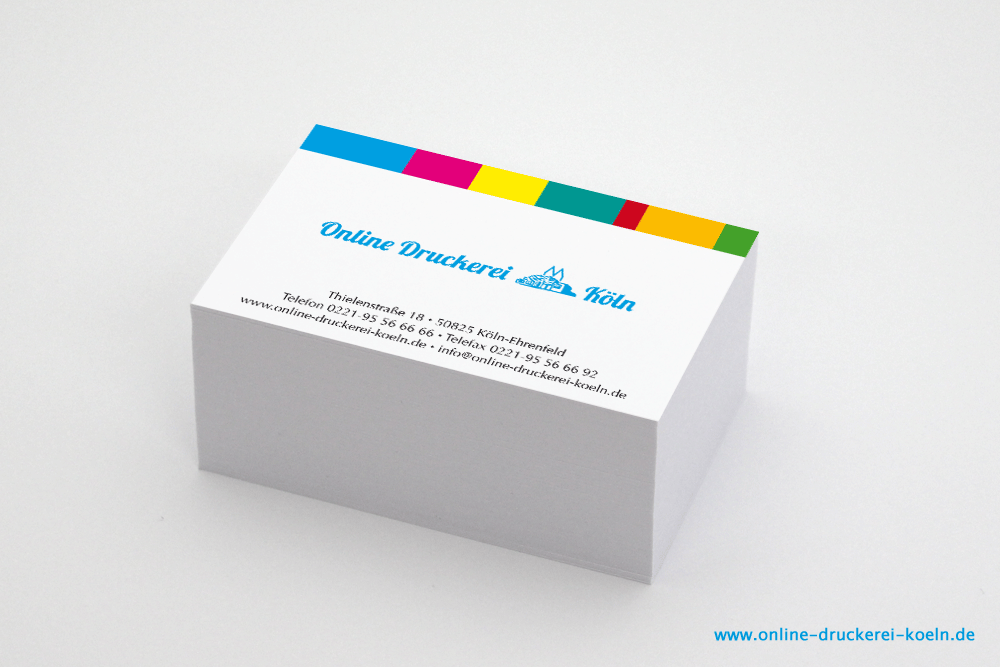 Visitenkarten Im Digitaldruck Einseitig Farbig Bedruckt 85 X 54 Mm 300g Karton