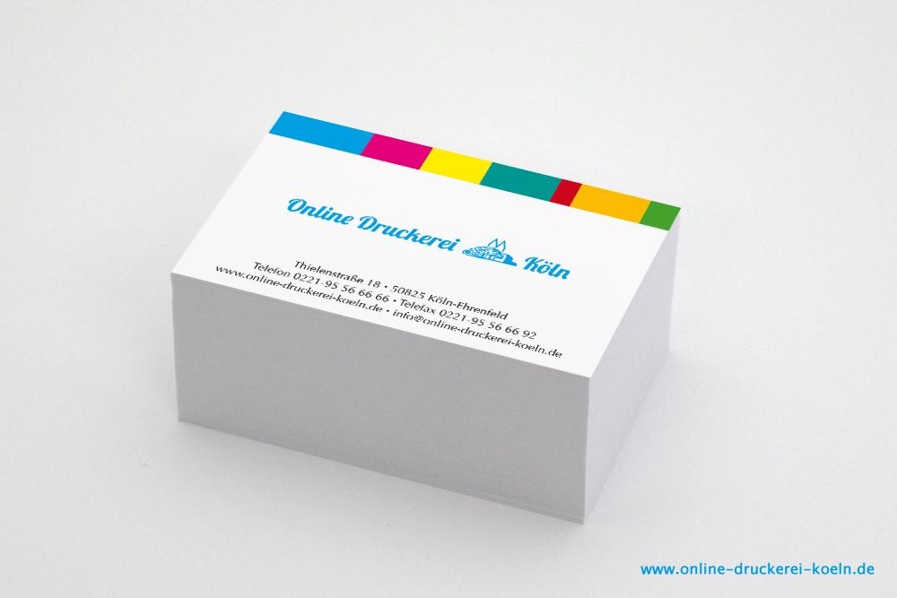 Visitenkarten Im Offsetdruck 350g 85 X 54 Mm 4 0 Farbig Lack