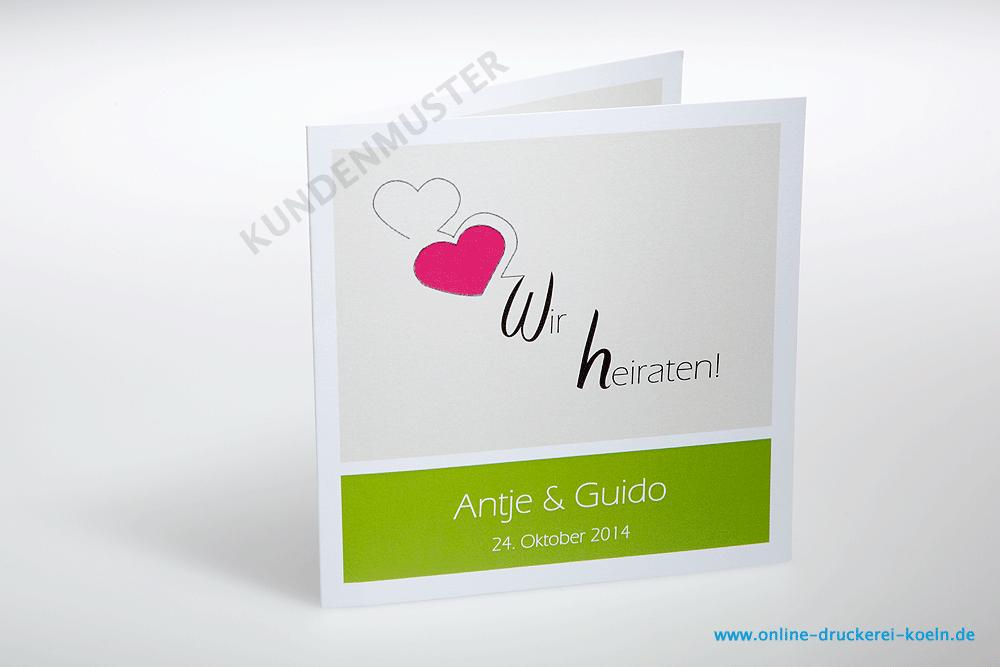 ... Einladungskarten Mit Kuvert, Quadratisch, Farbig Drucken