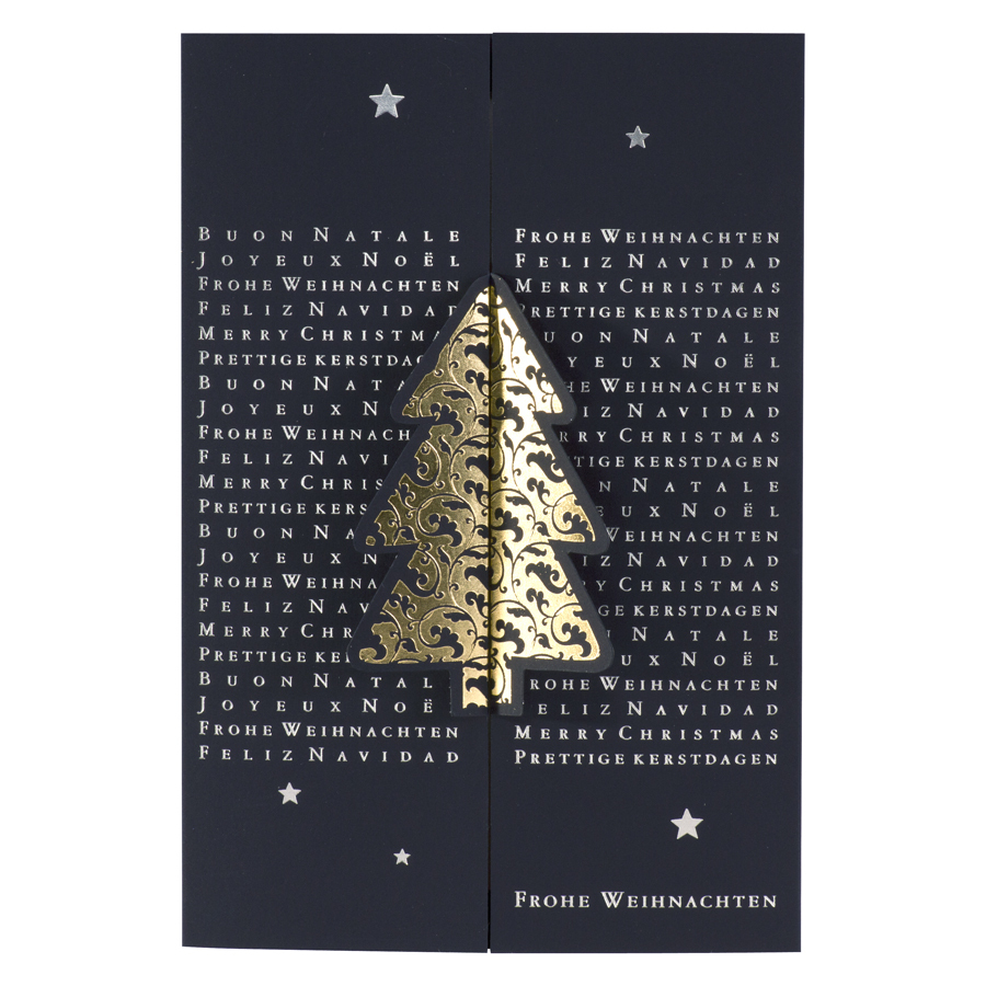 weihnachtskarte mit internationale weihnachtsgr e und. Black Bedroom Furniture Sets. Home Design Ideas