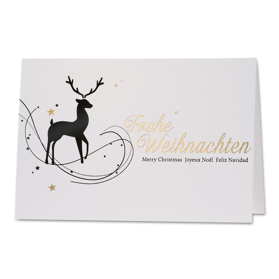 Schwarzer Hirsch Weihnachtskarte
