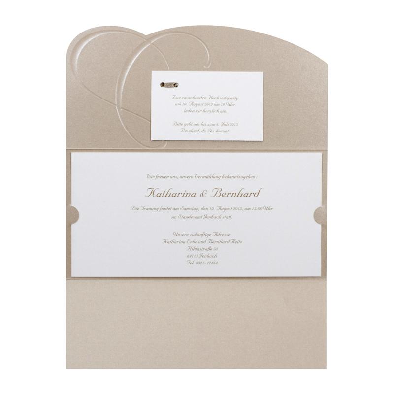 Hochzeitskarten Zum Aufklappen Mit Goldpragung Drucken