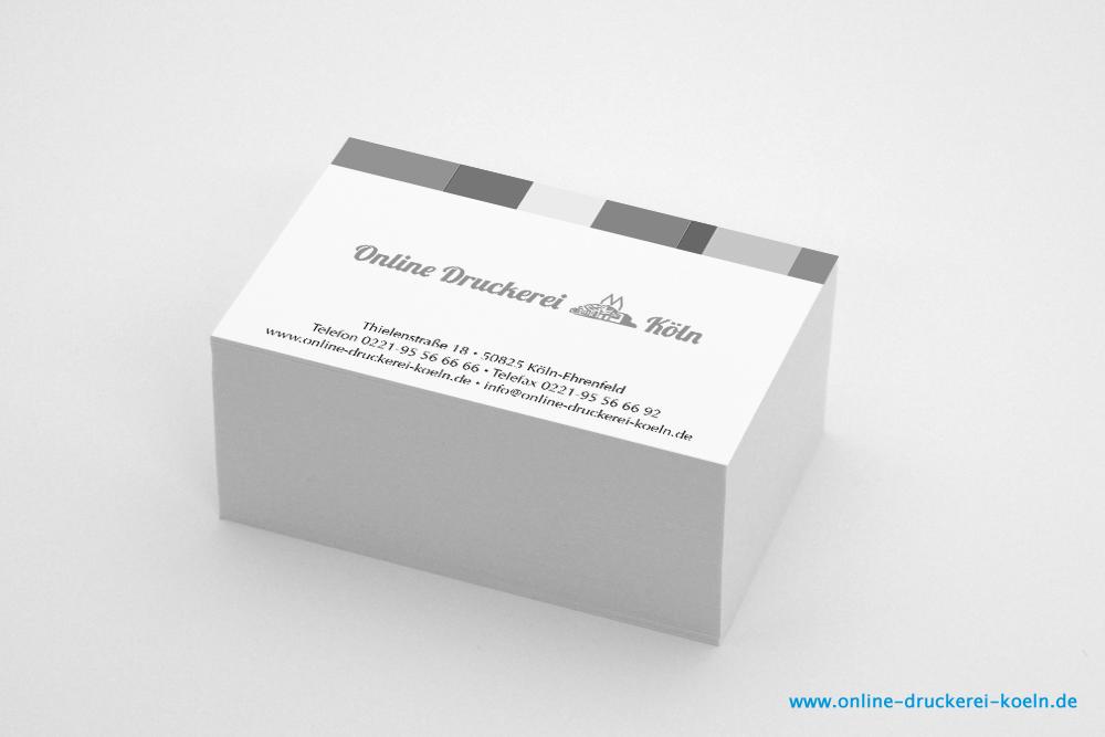 Visitenkarten Im Offsetdruck 350g 85 X 54 Mm 1 1 Farbig