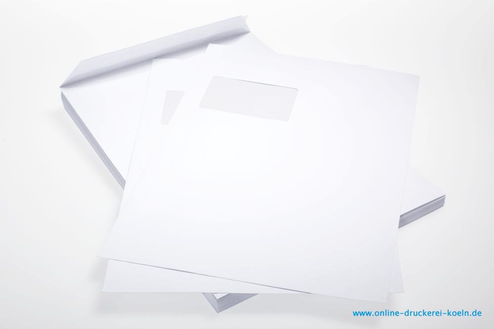 Din C4 Briefumschlag Mit Fenster 4 Farbig Bedrucken