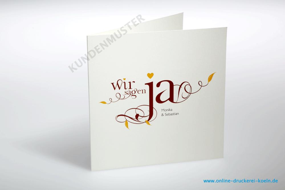 Hochzeitseinladung Mit Kuvert Beidseitig Farbig Bedruckt