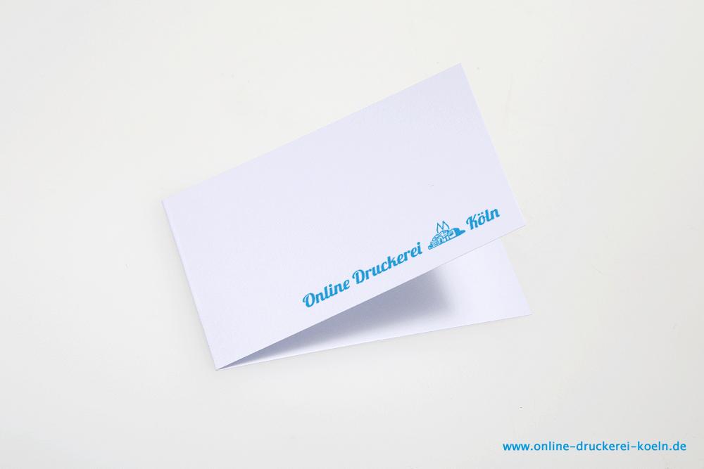 Klapp Visitenkarten Im Offsetdruck 300g 85 X 54 Mm Farbig Lack