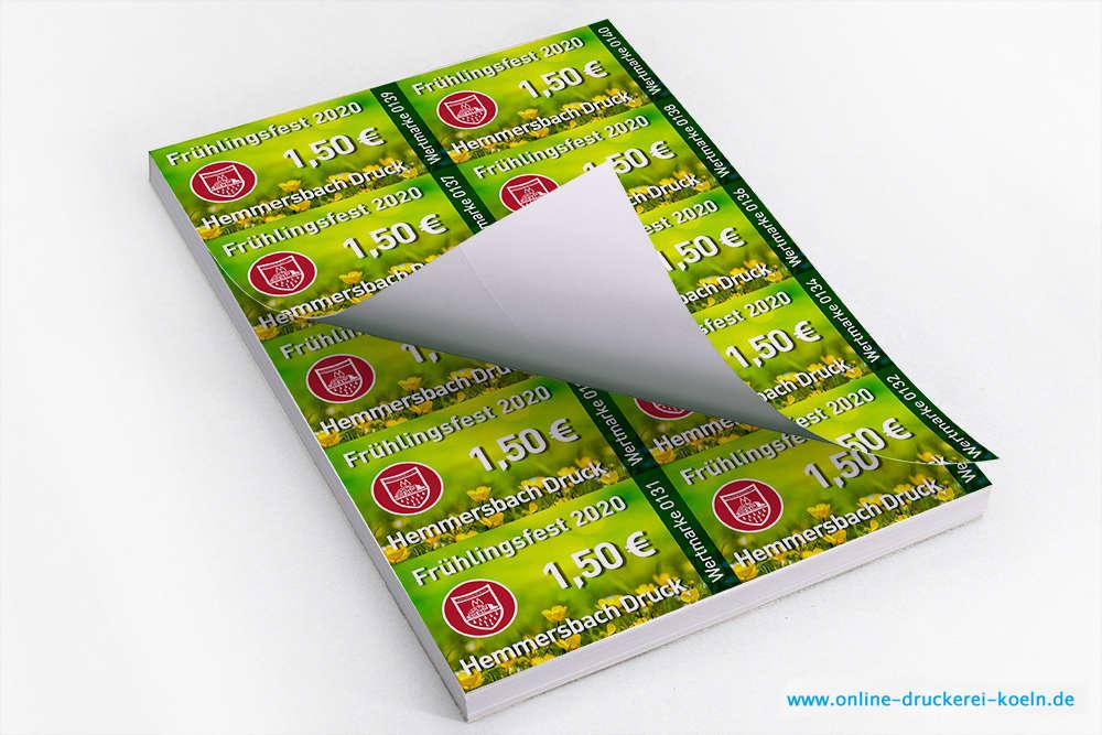 Wertmarken Drucken Im Block 170g Din A6 Einseitig Farbig