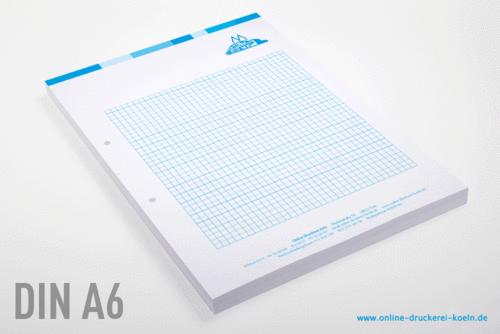 Blöcke drucken ab Auflage 10 Stück bei Online Druckerei Köln