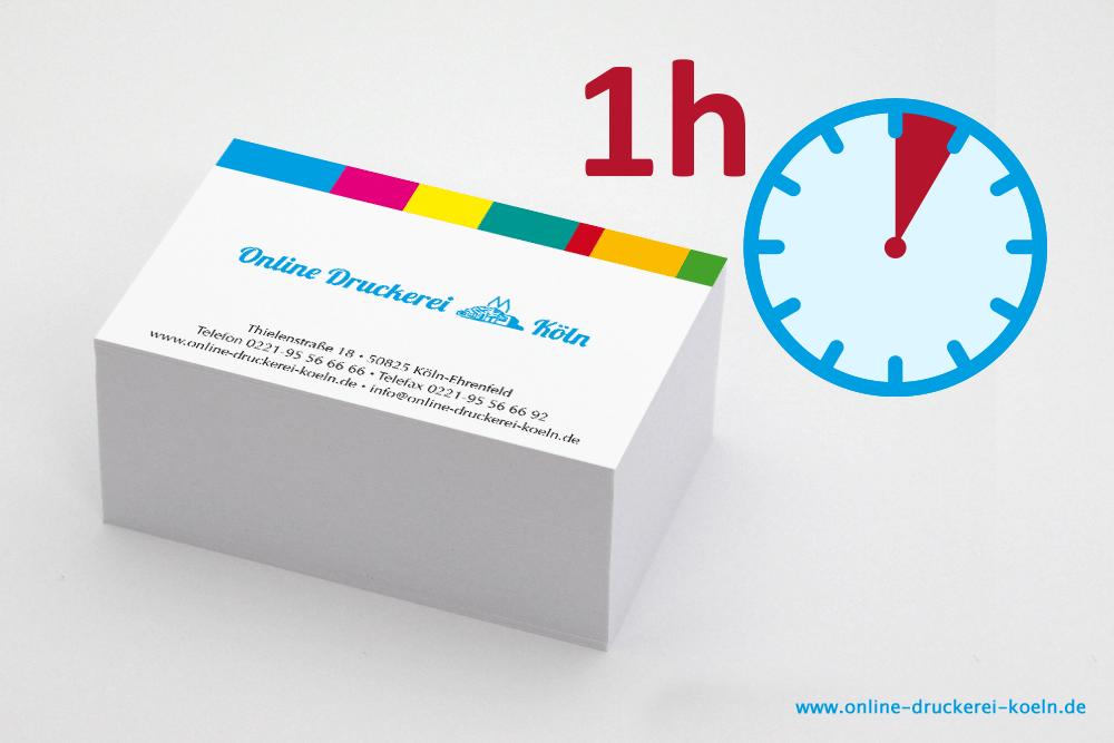 Visitenkarten Blitzdruck Im Digitaldruck Einseitig Farbig Bedruckt 85 X 54 Mm 300g Karton